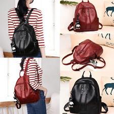 Women Girl Backpack Travel PU Leather Handbag Rucksack Shoulder School Bag US
