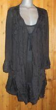 nwt PRETTY ANGEL TUNIC DRESS SHIRT victorian plus 1X 2X 3X RUFFLES & LACE black