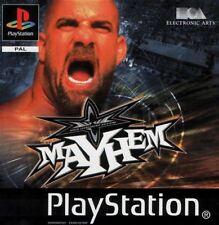 ☆☆☆ WCW MAYHEM - PS1 & PS2 COMPLET JEU DE CATCH ☆☆☆