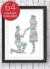 Propuesta de compromiso Personalizado Word Art Print Recuerdo Regalo él su foto