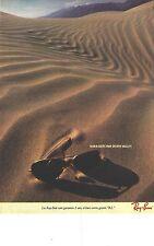 PUBLICITE ADVERTISING 1982  RAY BAN lunettes de soleil par DEATH VALLEY