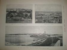Printed photo Bizerte Tunisia Naval Base France 1898