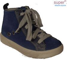SUPERFIT Schuhe Bootie Stoffutter Reißverschluss Blau echt Leder NEU