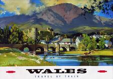 TT98 Vintage Wales By Train British Railways Travel Poster Re-Print A4