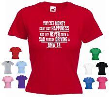 """/""""BMW M2/' Femme Drôle Voiture T-shirt/"""" ils disent que l/'argent ne peut ACHETER LE BONHEUR mais.../"""""""