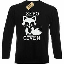 Mens ZERO FOX GIVEN T-Shirt funny joke rude gift foxes long sleeve