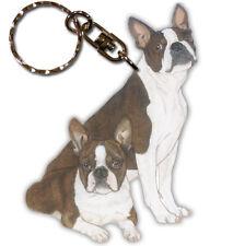 Boston Terrier Key Ring