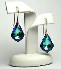 Plata Esterlina Gancho Pendientes barroco Hecho con Cristales de Swarovski - 22 mm