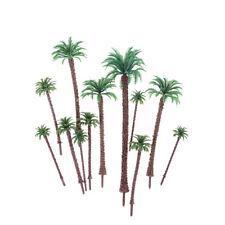 10pcs Multi Gauge Model Coconut Palm Trees HO O N Z Scale Scenery Fi