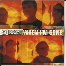 3 DOORS DOWN When I'm Gone CARD SLEEVE PROMO CD Three
