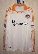 ADIDAS MLS Houston Dynamo Away Authentic L/S Jersey White Orange NEW Mens Sz XL