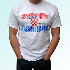 Croatia flag design white t shirt top modern tee - mens womens kids baby sizes