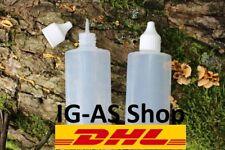 50ml 100ml ovale Liquidflaschen Tropfflaschen Leerflaschen Dropper Bottle aus DE