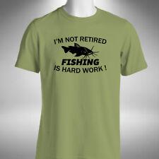 Retirement Fishing Mens T-Shirt Funny Angler Baiter Carp Pike Fisherman Retired