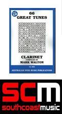 Bb CLARINET 66 GREAT TUNES SONG BOOK + CD MARK WALTON CLARINET SONGBOOK