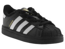 Scarpe Adidas Superstar I bambino nero da ginnastica pelle con lacci primi passi
