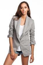 Robert Rodriguez Knit Boyfriend Jacket Heather Grey Blazer Gray Jersey