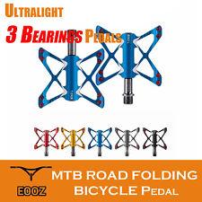 Ultralight MTB Road Bike Pedals 3 Bearings Aluminum Alloy Platform Bicycle Pedal