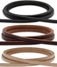 Lederband flach 3,5mm breit Lederriemen Wildleder schoko-braun 1,50€-2,50€//1m