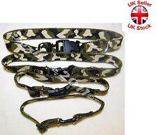 Collar de perro de nylon suave ajustable Camo con Hebilla y Clip de ancho 10 16 20 25 mm