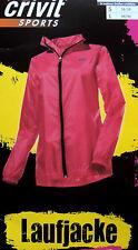 Damen Laufjacke Ultraleicht Winddicht Rückentasche Jacke Sportjacke Jogging NEU