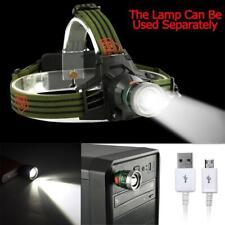 60000LM  Q5 LED Rechargeable USB Headlamp Headlight Flashlight Torch Lamp WT