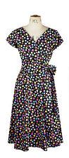 Baylis & Knight Sweetie Short Sleeve WRAP Dress Retro Pin Up 40's Vintage Cute