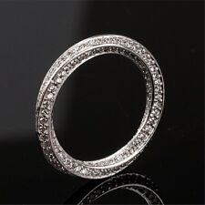 Mobius Ring Eternity Bent Band Cz 925 Silver Men Women Wedding Engagement Sz 5-9