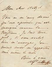 Alfred de MUSSET Lettre autographe signée à P.J HETZEL