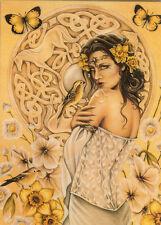 Jessica Galbreth Greeting Card Rhiannon Fairy Celtic Eu Size 17x12.5cm 6.6x4.8in