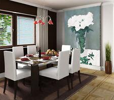 Papel Pintado Mural De Vellón Verde Deja De Rosa Blanca 3 Paisaje Fondo Pantalla