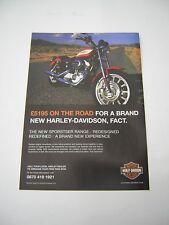 Harley Davidson Sportster Advert from 2004 - Original