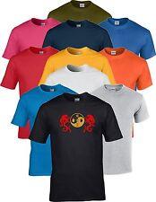 Taekwon Hacer Tkd Yin Yang Dragon Artes Marciales Camiseta De Entrenamiento