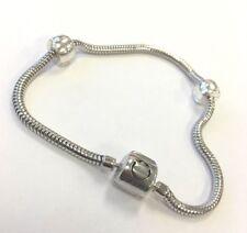 Persona Sterling Silver 3mm Bracelet including 2 Stopper Locks
