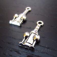 Wine Bottle 16mm Antiqued Silver Plated Charm Pendants C5527 - 10, 20 Or 50PCs