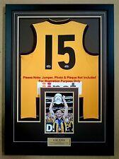 "DIY Boxed Sports Jumper Frame A4 / 8x12 / 8x10"" Photo for AFL/NRL/Soccer Jerseys"