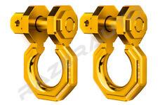 "2pcs 3/4"" Yellow 3.0 Ton Aluminum D-Ring Bow Anchor Shackle Heavy Duty Off road"