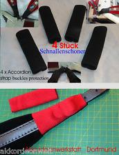 4 x fibbie protezione per fisarmonica cinghie, 4 x accordion Strap buckles protection