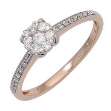 Anillo de mujer con 29 diamantes brillantes oro 585 Rojo Blanco