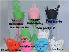 Alice nel Paese delle Meraviglie Party a tema cupcake Wrappers x12 fai la tua Cupcake GUARDA FAB