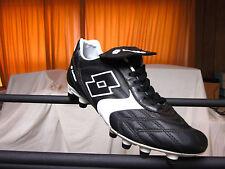 Lotto Trofeo FG Men's Soccer leather Cleats Black/White & White Medium (D,M) New