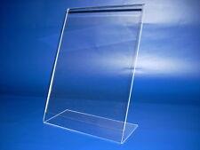 L Aufsteller Prospekt Ständer Preisschild Display Werbeaufsteller aus Acrylglas