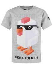 Crossy Road Deal With It garçon T-shirt en coton gris garçon