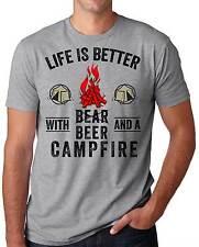 Camping Fishing Hunting T-shirt Park Camp Tee shirt Campfire beer T-shirt