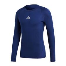 ADIDAS alphaskin camicia sport maniche lunghe blu scuro