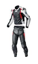 BMW Hommes Sports Un pantalon & Veste Courses Moto Cowhide Cuir 2 Pièce Costume