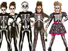 Niña Día de los Muertos Disfraz Mexicano Infantil Disfraz de Halloween Edad 3-13