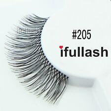 #205  6 or 12 pairs of ifullash 100% human hair Eyelashes- BLACK