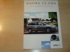 17289) Opel Zafira CNG Prospekt 2001