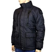 Redbridge Jacke Parker Mantel Innenfutter Taschen Stepp Winter schwarz R-5300